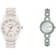 Crude Couple Combo of Analog Watch-rg317 With Stainless Steel Strap