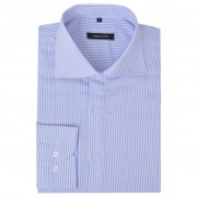 vidaXL Csíkos fehér és világoskék S méretű üzleti férfi ing