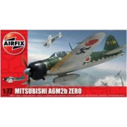 Kit aeromodele Airfix 01005 Avion Mitsubishi A6M2b Zero Scara 1 72