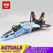 Generic LEPIN 20031 Technic Series Mechanical Group Air Race Jet Building Blocks Bricks 1151 Pieces Block Toy Boys DIY Gifts 42066 20031
