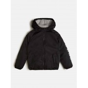 Guess Gewatteerd Nylon Jack Logo Zijkant - Zwart - Size: 7
