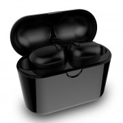 Mini Sports TWS Bluetooth 5.0 In-ear Earphones with Charging Box - Black