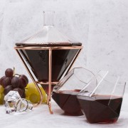Комплект Декантер за Вино с Чаши - Диаманти
