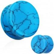 Turquoise Semi Precious Stone Solid Saddle Fit Plug - 14 mm