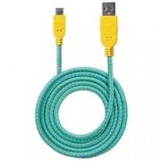 Manhattan Cavo Micro USB Guaina Intr. USB2.0 A M/MicroB M 1m Azzurro/Giallo