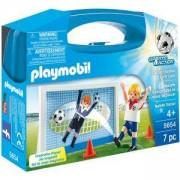 Комплект Плеймобил 5654 - Футболист с врата в куфарче, Playmobil, 2900083