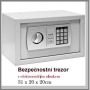 Trezor bezpečnostní ESF06 šedá V20 x Š31 x H20cm