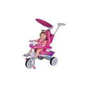 Triciclo Infantil Super Trike Rosa C/ Empurrador Magic Toys