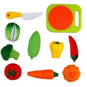 Fruits and Vegetables Cutting Role Play Toy Set for Kids (Vegetable)