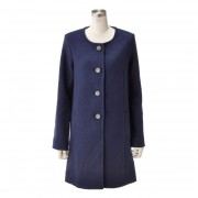 DEBUTTO お洒落なスタイリッシュノ-カラーコート【QVC】40代・50代レディースファッション