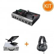 Kit Live Multicam cu Switcher Video 2 Canale + Teleprompter + Casti Monitorizare