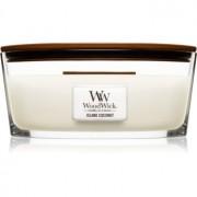 Woodwick Island Coconut lumânare parfumată cu fitil din lemn (hearthwick) 453,6 g