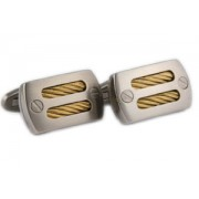 Mousie Bean Formal Cufflinks Titanium Oblong 145