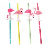 Rex London Papperssugrör Flamingo 4-Pack