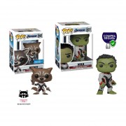 Hulk con Guantelete y Rocket sticker exclusivo Funko pop endgame