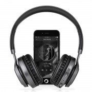 PICUN BT08 Over-ear Wireless Bluetooth Stereo Headset Headphone with Microphone Support FM Radio - Black