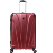 Timus Leo Lite 75 CM Polycarbonate 8 Spinner Wheels Expandable Trolley Check-in Luggage (Red)