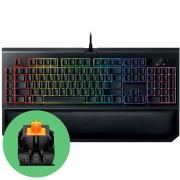 Razer BlackWidow Chroma V2 Геймърска механична клавиатура с оранжеви Razer суичове