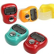 only4you 5 Pieces Digital 5 Digit Counting Machine Puja Mantra Tasbeeh Tally Finger Counter (Assorted Colors)