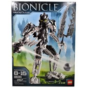 Lego Year 2008 Bionicle Series 12 Inch Tall Figure Set # 8699 - TAKANUVA with Midak Skyblaster and 11 Inch Long Three-Pronged Power Lance (Total Pieces: 267)