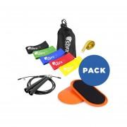 Pack Loops mini bandas elásticas + Par de discos deslizadores + Speed rope + Cinta métrica