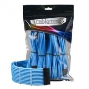 Set cabluri prelungitoare CableMod PRO ModMesh, cleme incluse, Light Blue