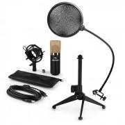 Auna MIC-900BG LED USB Set de micrófonos V2 3 piezas con soporte