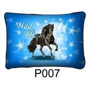Fekete ló Wild Life P007 - Díszpárna
