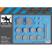 Black Dog - Panther wheels detail set 1:35