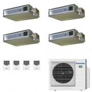 Panasonic Condizionatore Quadri Split 9+9+9+9 Btu Canalizzato Bassa Prevalenza WiFi Opt 9000 9000 9000 9000 esterna CU-4Z80TBE