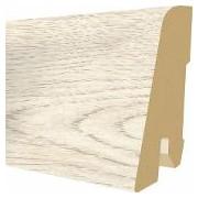 Plinta MDF Egger 60x17 mm, 2,4 m, culoare Stejar Cortina alb