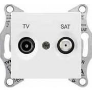 SEDNA TV-R-SAT aljzat átmenő 4 db IP20 Fehér SDN3401921 - Schneider Electric