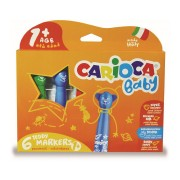 Carioci lavabile 6 culori/set CARIOCA Baby Teddy 1
