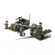 Sluban | Stavebnice ARMY JEEP a protiletadlový kanón