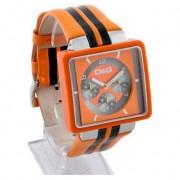 D&G Cream Orange Leather Mens Fashion Watch DW0065