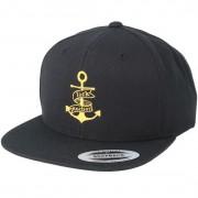 Jack Anchor Keps Anchor Black/Gold Snapback - Jack Anchor - Svart Snapback