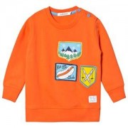Indikidual Patches Motif Tröja Orange 2-3 years