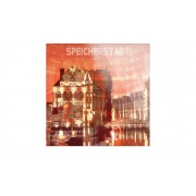 "Höffner Glasbild ""Speicherstadt I"" ¦ rot ¦ Maße (cm): B: 50 H: 50"
