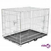 vidaXL Sklopivi metalni kavez za pse XL