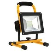 Hordozható , akkumulátoros LED reflektor, SMD, 20 Watt, IP65, természetes fehér
