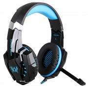 KOTION EACH G9000 USB Over-ear Game Headset Earphone with Mic LED Light - Black / Blue