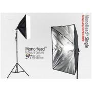 Lampa SOFTBOX światła ciągłego typu Monohead 50x70cm, 85W, 230cm