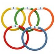 Jogo de cinco anéis para mergulho flexíveis