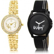 The Shopoholic White Black Combo New Stylist Latest White And Black Dial Analog Watch For Girls Watches For Women Leather