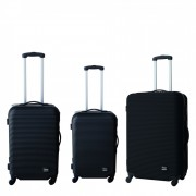 Комплект куфари ZEPHYR ZP 9520 A BLACK - K-T, 3 удобни размера, Олекотени, Заключване с шифър, Черен