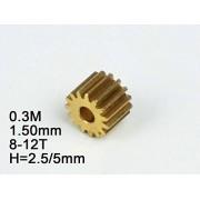 HATCHMATIC 2,0 mm Modelo RC Metal Engranaje de pin 0,4 M (DiMetro del Agujero) 8T / 9T / 10T / 11T / 12T / 13T / 14T / 15T / 16T Altura: 5 mm / 12 mm: 0,4 M 2.0mm 9T 5MM