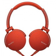 Sony XB550AP EXTRA BASS Headphones With Mic ( Red ) With 1 Year Sony India Warranty