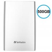 Disco Rígido Externo Verbatim Store 'n' Go USB 3.0 - Prateado - 500GB