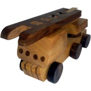 Onlineshoppee Wooden Toy Fire Truck