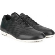 Clarks Triturn Run Black Weave Sneakers For Men(Black)